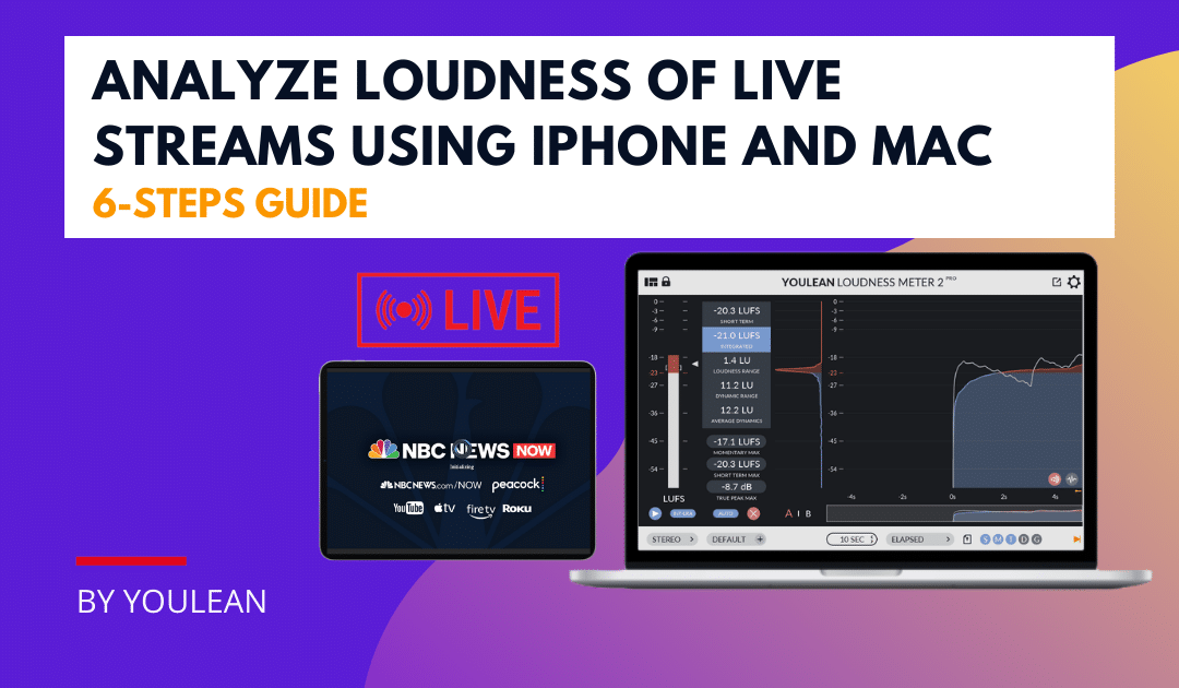 How to Analyze Loudness of Live Streams Using iPhone and Mac?